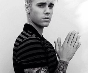 justin bieber, boy, and black and white image