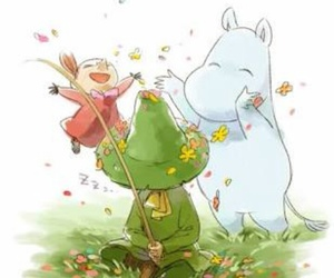 snufkin, friends, and moomins image