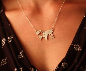 world, jewelry, and necklace image