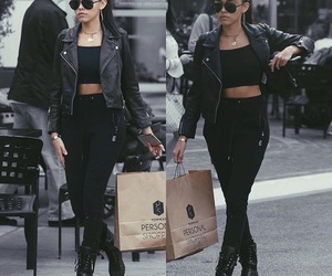 madison beer, fashion, and black image