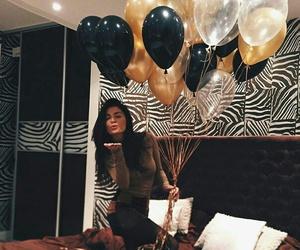 birthday, ballons, and girl image