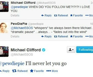 pewdiepie, michael clifford, and funny image