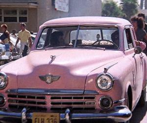 car, pink, and grease image