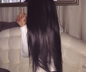 hair, black, and long image