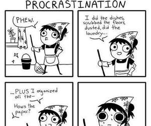 procrastination, comic, and funny image