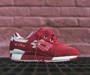 asics, baskets, and red image