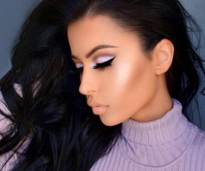 makeup, hair, and amrezy image