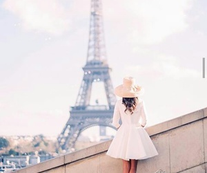 paris, eiffel tower, and love image
