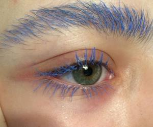 blue, eye, and makeup image