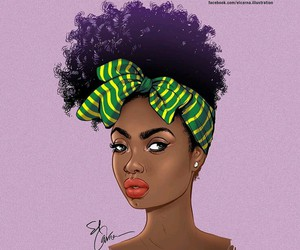 Afro and illustration image