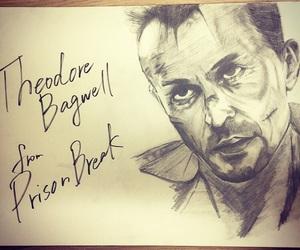 art, drawing, and prison break image