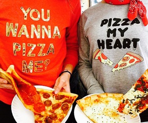clothes, heart, and pizza image