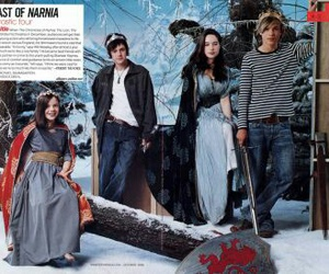 anna popplewell, georgie henley, and narnia image
