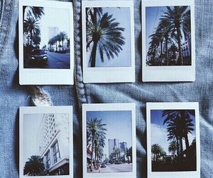 polaroid, blue, and photo image
