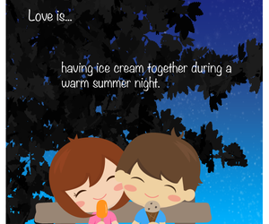 ice cream, cute, and love image
