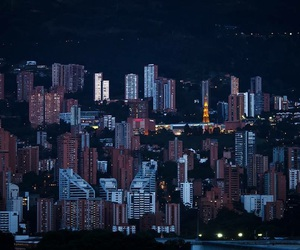 city, colombia, and lights image