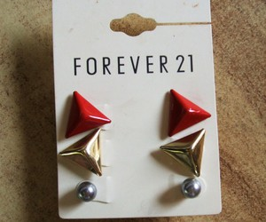 accesories, earrings, and forever21 image