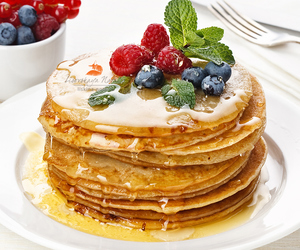 food, food photography, and pancakes image