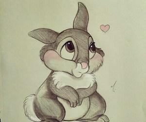 art, bambi, and rabbit image
