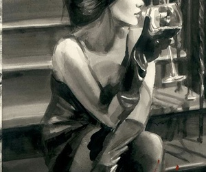 fabian perez, art, and woman image