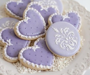 Cookies, purple, and sweet image