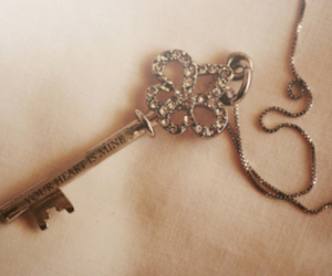 key, heart, and necklace image