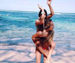 friendship, girls, and sea image