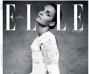 Elle, model, and black and white image