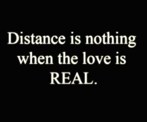 love, quote, and distance image