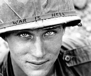 black and white, eyes, and hell image