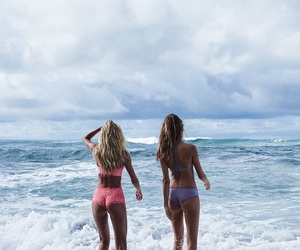 beach, candice swanepoel, and model image
