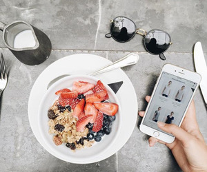 food, fruit, and iphone image