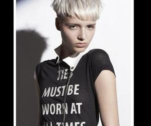 androgyny, blonde, and girl with short hair image
