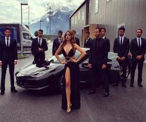 car, girl, and boy image