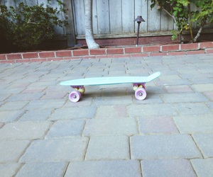 penny board and colorful skateboard image