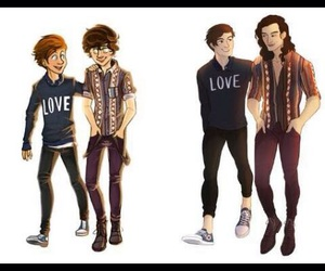 larry, stylinson, and louis styles image