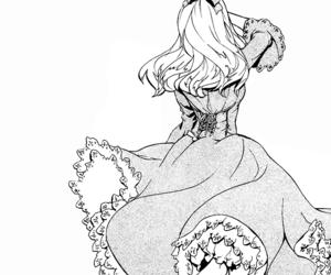 dress, girl, and monochrome image