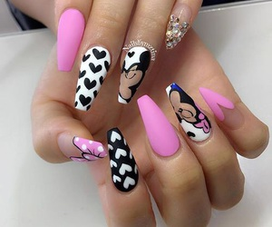 nails, mickey mouse, and pink image
