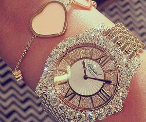 watch, diamond, and luxury image