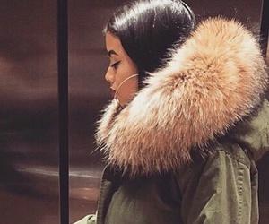 fur, coat, and makeup image