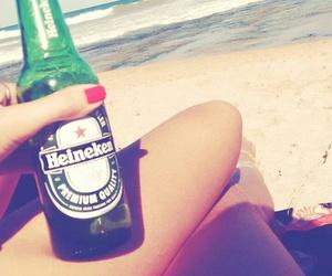 beach, beer, and cerveja image