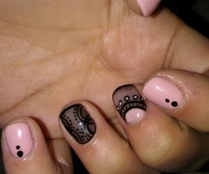 black, nails, and nail art image