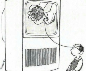 tv, brain, and television image