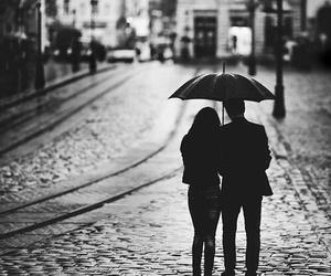love, couple, and rain image