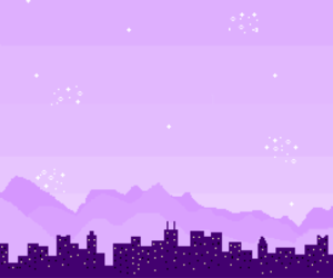 pixel, city, and purple image