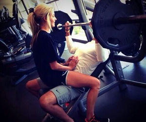 love, couple, and gym image