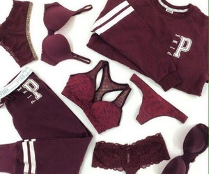 pink, clothes, and maroon image