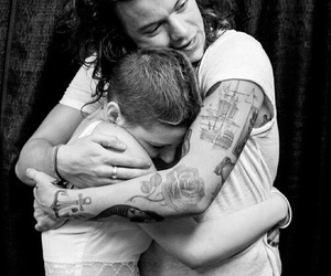 Harry Styles, one direction, and hug image