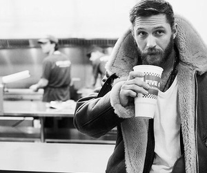 actor, tom hardy, and black and white image