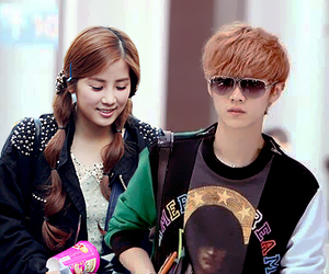 couple, luhan, and fanedit image